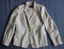 J. Crew Women's White Regent Blazer Jacket Size 8 UK 12 Good Used Condition