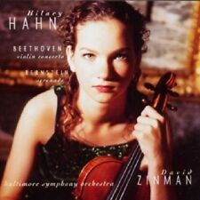 HILARY HAHN/ZINMAN/BSO - BEETHOVEN-VIOLIN CONCERTO & BERNSTEIN SERENADA CD NEU