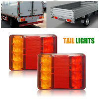 2X 12V 8 LED Indicateur Lampe Feux Arrière Lumières pour Camion Voiture Remorque