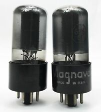 Rca 6V6Gt Black Plate Dual Bottom D Getter Smoked Glass Matched Vacuum Tubes
