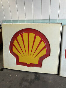 """Shell Gas Station Sign Fuel Oil LARGE Man Cave Garage 61""""x51"""""""