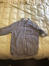 BDG Men Large Button Down Long Sleeve Black & White Checkers Used L