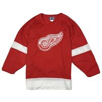 Vintage STARTER Detroit Red Wings NHL Hockey Jersey Stitched Home Red Sz XL
