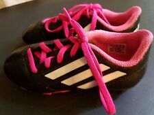 Youth Adidas Kids TRX FG  Soccer Cleats Pink & Black size 12