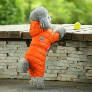 Small Pet Dog Jumpsuit Clothes Winter Warm Down Jacket Puppy Cat Coat Costume