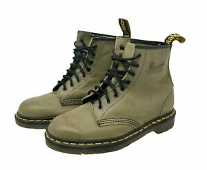 Dr. Martens 1460 Pascal 8 Eyelet Army Green Boots UK 7 Womens 9 Mens 8 Unisex