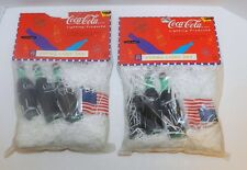 Set of 2 Unopened New NIP Coca Cola String Lights American Flag 1996 Christmas