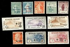 FRANCE, Excellent Assortment of classic Semi-Postal Stamps