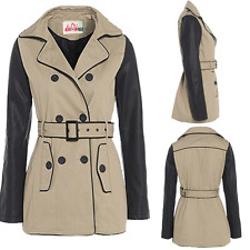 Autumn Patternless Women's Trench Coats
