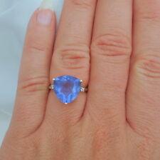 8.49ct Trillion Colour Change Fluorite Gold Ring