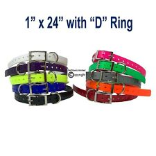 "Garmin 1"" Collar Strap Compatible T5 T9 Tt10 Tt15 Dc50 C70 G3 Exp with D-Ring"