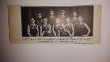 Rochester New York Central 1911-12 Basketball Team Picture