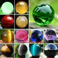 Natural Quartz Magic Sphere Crystal Stone Minerals Rock Healing Ball Craft Lot