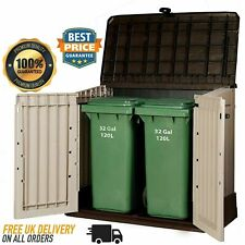 Plastic Garden Storage Box Unit - Large Outdoor Keter Container Patio Tool Shed