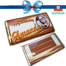 PERSONALISED PHOTO CHOCOLATE BAR WRAPPER BIRTHDAY ANY OCCASION GIFT