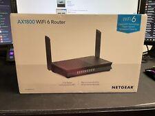 NETGEAR AX1800 Dual Band WiFi 6 Router 4-Stream RAX20-100NAS Open Box