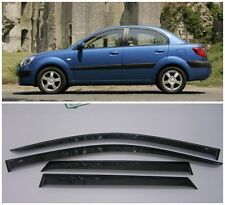 For Kia Rio Sd 2005-2011 Window Side Visors Sun Rain Guard Vent Deflectors