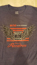Port and Company XL S/S Gray MILITARY AUTO SOURCE Built Tough Ford Wings FREEDOM