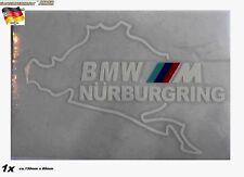 Auto KFZ Car >Aufkleber Schleife Rennstrecke Ring Weiß Heck Scheibe >1A-Qualität