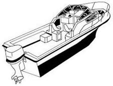 7oz STYLED TO FIT BOAT COVER HALLET 380 DUAL 2004-2006