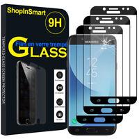 3X Schutzglas Für [ Samsung Galaxy J5 Pro (2017) J530Y] Echtglas Display SCHWARZ