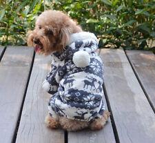 #Fashion Pet Dog Winter Warm Clothes Puppy Jumpsuit Hoodie Coat Apparel Xmas M