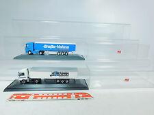 au865-1 #2x HERPA H0 MB Camion vehne transporte + Heinemann expédition, avec