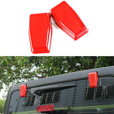 2pcs Upper Rear Door Window Hinge Cover Trim-Red for 2007-2018 Jeep Wrangler JK
