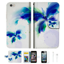 Blue Butterfly  Wallet  Case Cover For Apple iPhone 6 6S -- A009