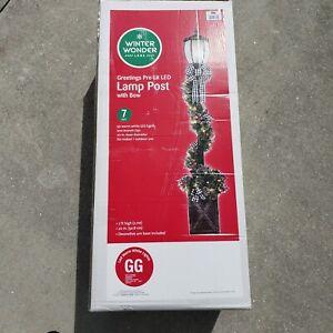 7 Ft. Winter Wonder Lane Lamp Post Pre Lite LED Indoor or Outdoor Christmas New