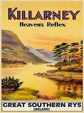 Killarney Heaven's Reflex Ireland Irish Travel Advertisement Poster Print
