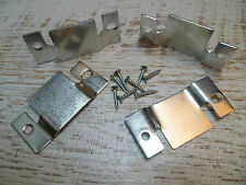 Sofa Furniture - Metal Clips/Connectors/Joiners/Brackets 2 Sets + 8 Screws