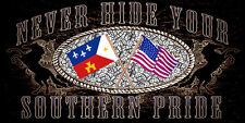 Southern Pride ,Confederate U.S. & Cajun Novelty   License Plate, USA Made