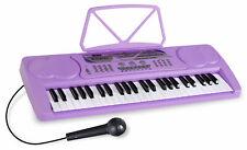 Klasse 49 Tasten Keyboard in Lila für kleine Einsteiger mit  Sounds und Mikro