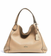 NWT Coach Edie Shoulder Bag in Polished Pebble Leather Nude Tan F33547