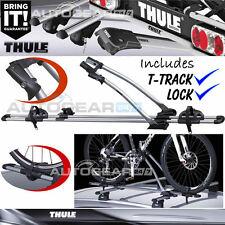 1 x Thule FreeRide 532 Car Roof Mount Cycle Carrier Bike Rack + T-Track + Lock