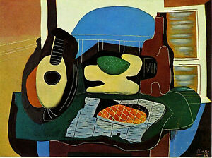 """Still Life with Stone (1924) Signed Picasso - 17"""" x 22"""" Fine Art Print - 00895"""
