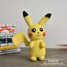 Pokemon Pikachu Amigurumi, Pokemon Crochet Gamer Gift  Plush Toy Stuffed Animal