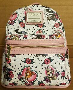 Loungefly Disney Bambi Tattoo Mini Backpack Grotto Treasure Exclusive  RARE C