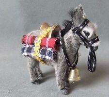 small simulation gray donkey model polyethylene&fur donkey toy 11*10cm