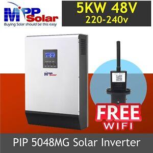 (MG) 5000w 48v Solar inverter 230vac mppt solar charger 80a 450v PV WIFI MODULE