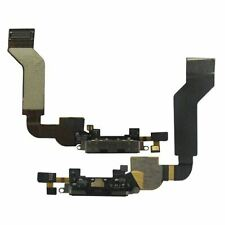 For Apple iPhone 4S Charging Port Dock Connector Flex Cable With Mic Black