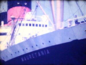 RMS Mauritania, Cruise 1949 350FT 8MM amateur Colour HOME MOVIE CINE FILM C1950