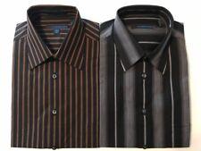 Material London 100% Cotton Point Collar Stripe Men's Dress Shirts