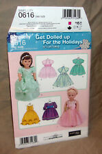 "Uncut Simplicity #0616 for 18"" American Girl Doll Elaine Heigl +7 fancy dresses"