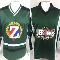 Lot Of 2 Jerzees Activewear Mens Large Hockey Jersey Big Spellout Hip Hop