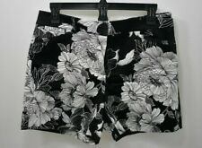 WHITE HOUSE BLACK MARKET FLORAL SATEEN SHORTS SZ 2 NEW WITH TAG