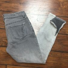 Ana Skinny Ankle Jeans Size 6 Womens Ankle Zipper Gray Gradient Stretch A.N.A