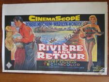 Affiche de cinéma - réédition 1980. Rivière sans retour