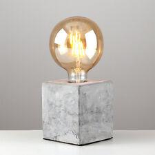 Industrial Style Concrete / Cement Cube Edison Table Lamp Bedside Bulb Light